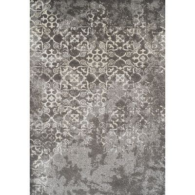 "Dalyn Rug Co. Antigua Gray Area Rug Rug Size: 9'6"" x 13'2"""