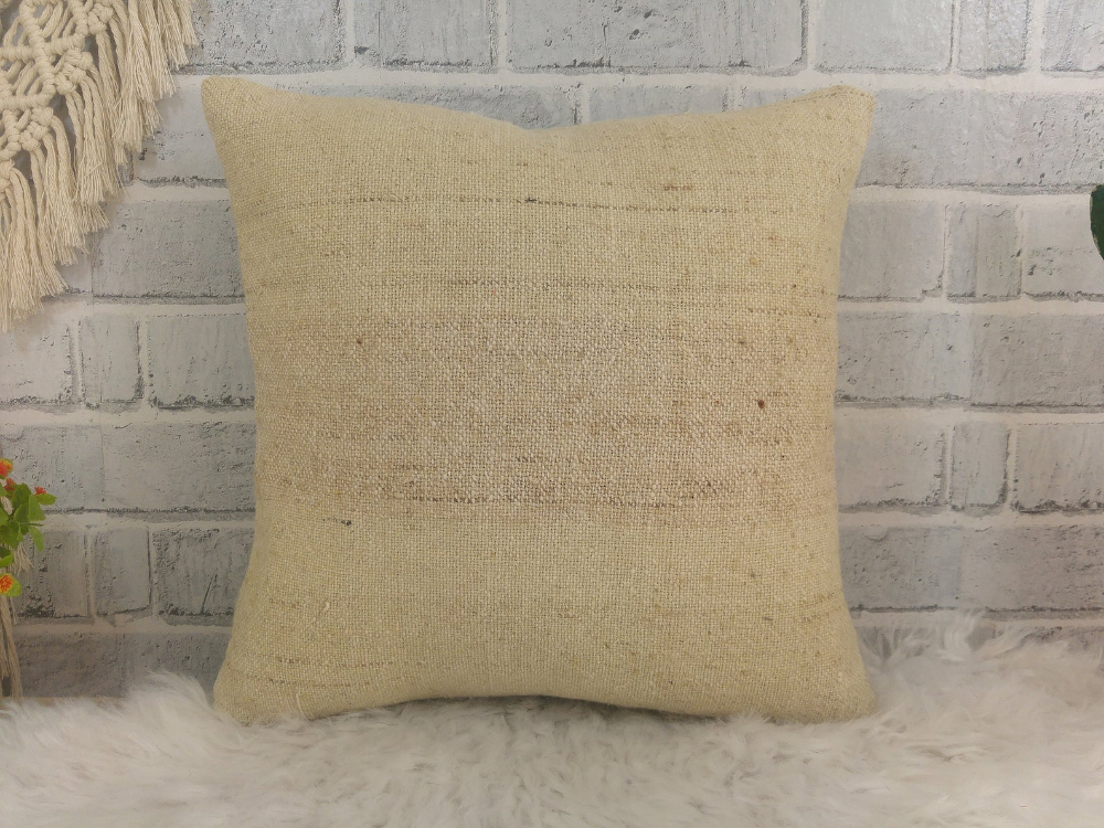 Linen kilim pillow , kilim cushion cover , bohemian pillow , handmade pillow , 14 x 14 kilim pillow , boho pillow , decorative pillow , 582