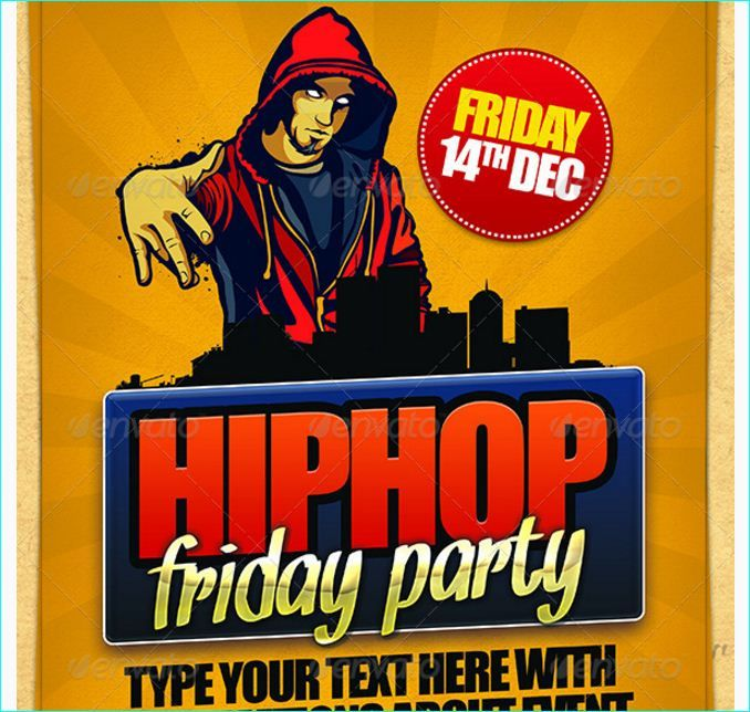 Hip Hop Friday Flyer Template  Party Flyer Templates For Clubs