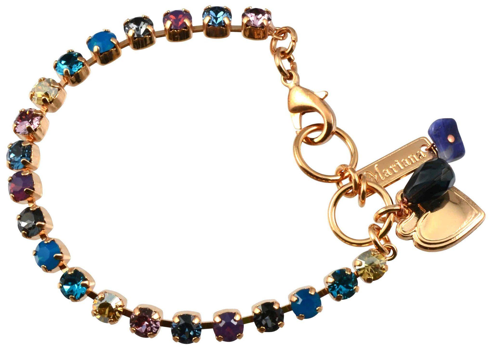 Mariana serenity rose gold plated swarovski crystal tennis bracelet