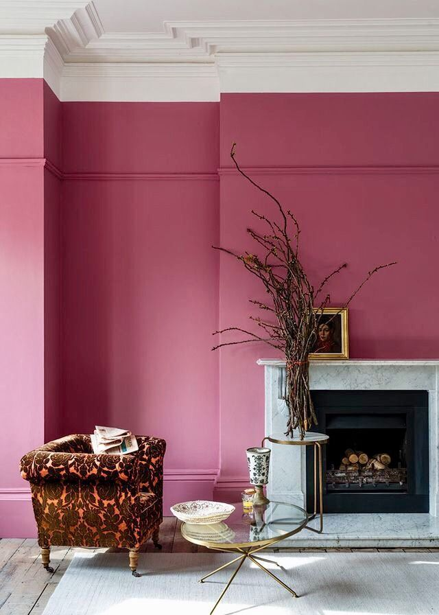 Think Pink Good Living Room Colors Pink Paint Colors Pink Bedroom Walls