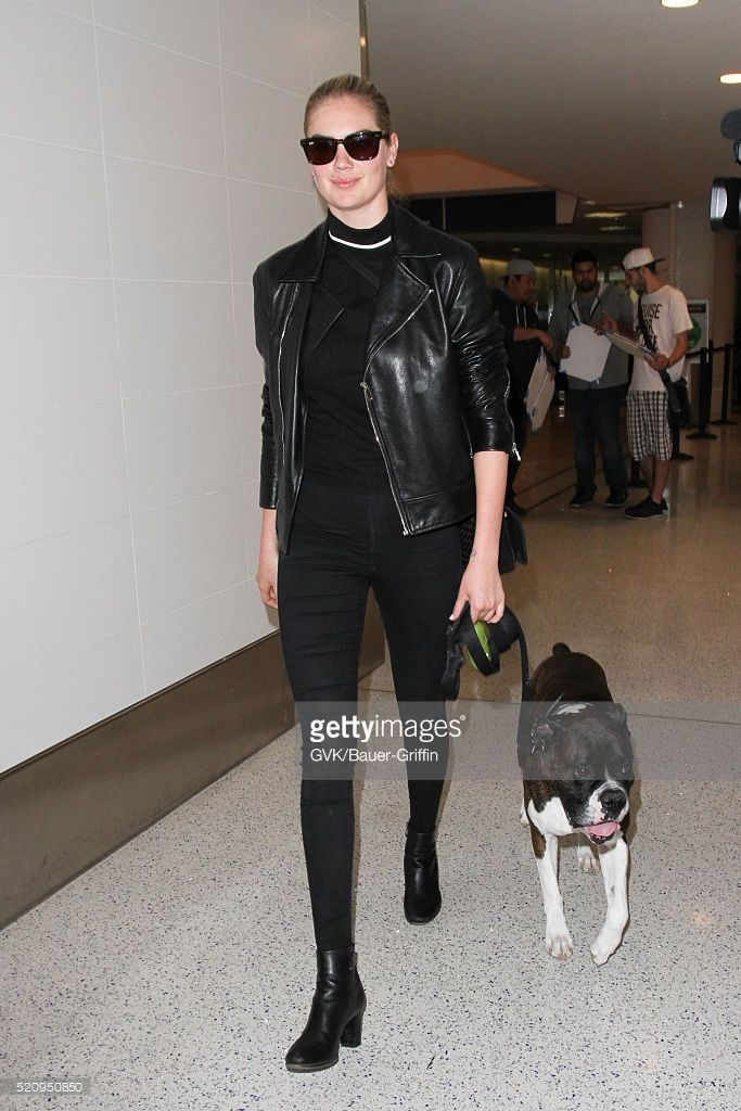 Kate Upton is seen at LAX on April 13, 2016 in Los Angeles, California.