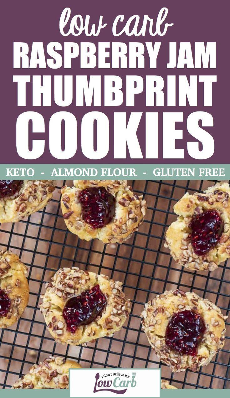 Easy Keto Raspberry Jam Thumbprint Cookies