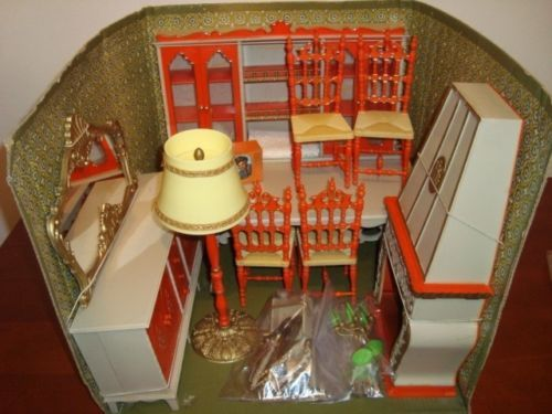 Barbie Mobili ~ Vintage galletti cicogna mobili milady sala pranzo bambole 60