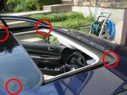 Location Of Sunroof Drains In Tray Sunroof Leak Toyota