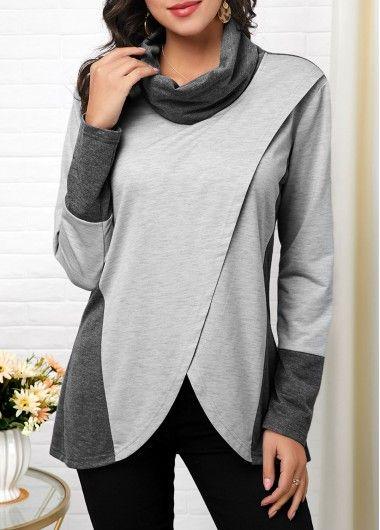 Christmas Print Embellished Neck Long Sleeve T Shirt | modlily.com - USD $29.73 #shirtsale