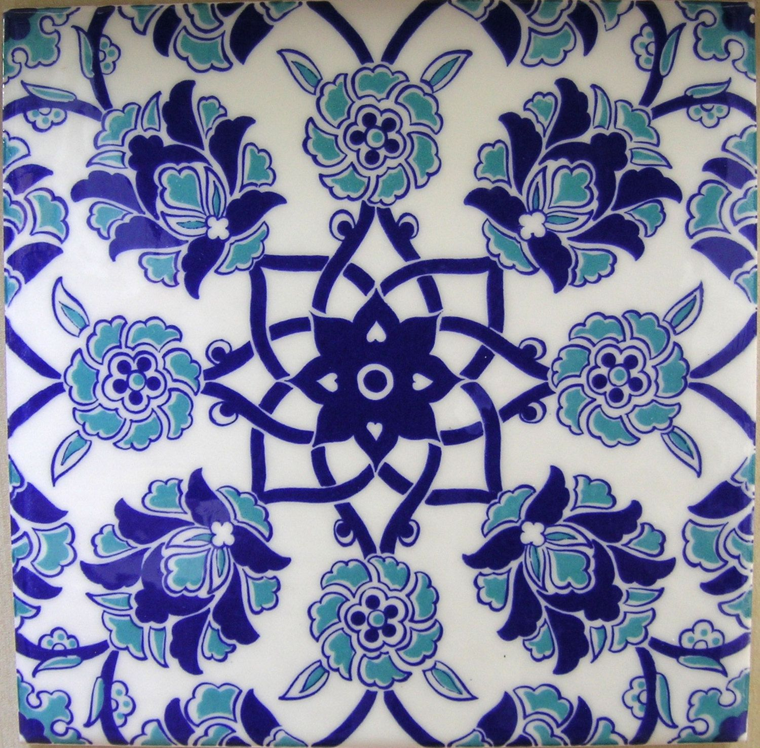 IZNIK CERAMIC TILE With Traditional Kutahya By MineHomeDecoration - Türkische fliesen kaufen