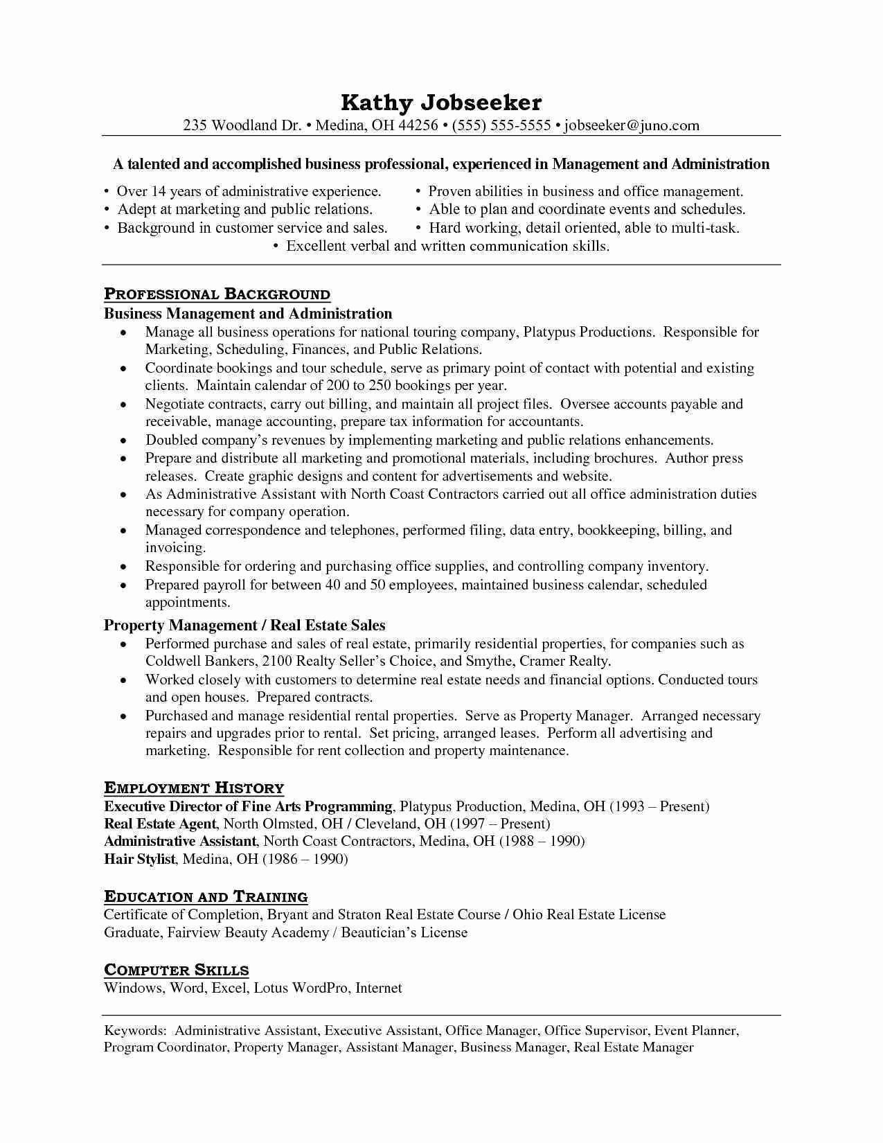 32 Fresh Resume For Office Assistant In 2020 Project Manager
