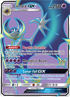 Pokemon Card Ultra Shiny GX sun /& moon Japanese Official Lunala