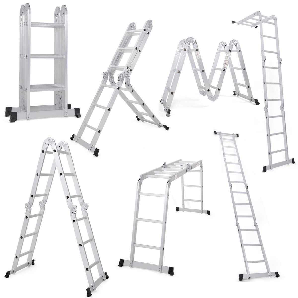 This Is A Multi Use Ladder For Home And Business Use Which Can Be Transformed Into 7 Different Formation In 2020 Scaffold Ladder Multi Purpose Ladder Aluminium Ladder
