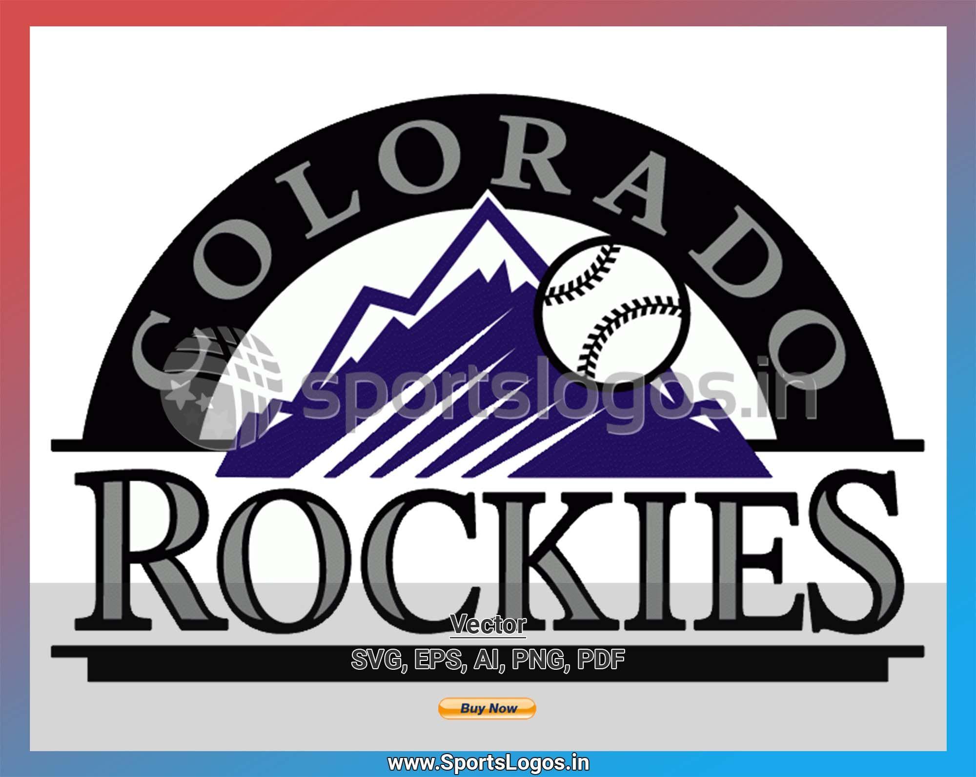 Colorado Rockies Baseball Sports Vector Svg Logo In 5 Formats Spln000985 Sports Logos Embroidery Vector For Nfl Nba Nhl Mlb Milb And More Colorado Rockies Baseball Colorado Rockies Rockies Baseball