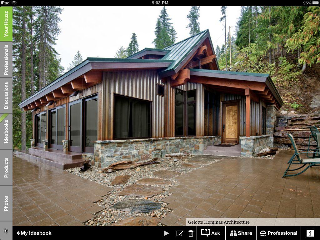 Modern rustic cabin fever pinterest modern cabin and house