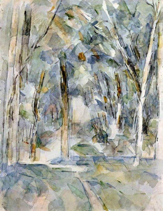 Bild von Paul Cézanne, Baumallee Date 1906 by Paul Cézanne