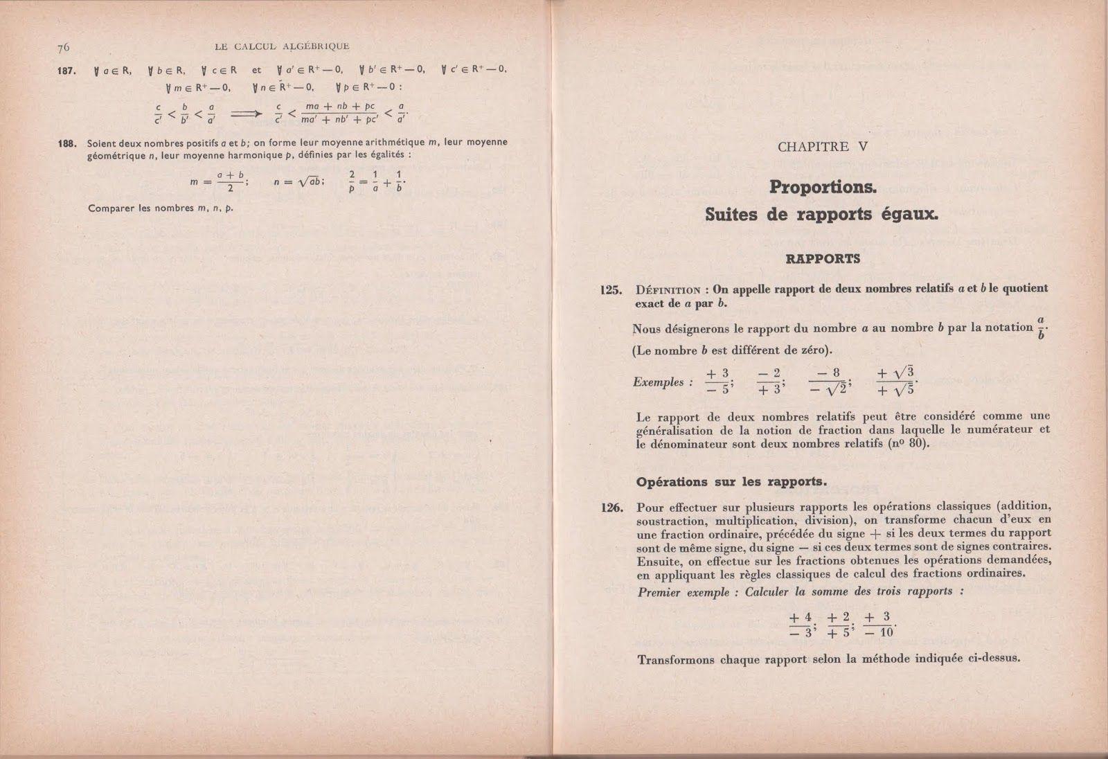 Monge Algebre Seconde A C M M Programme De 1960 Grandes Images Algebre Mathematiques College Programme