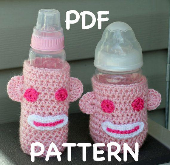 Crochet Sock Monkey Baby Bottle Cozy Pattern by TheBabyCrow ...