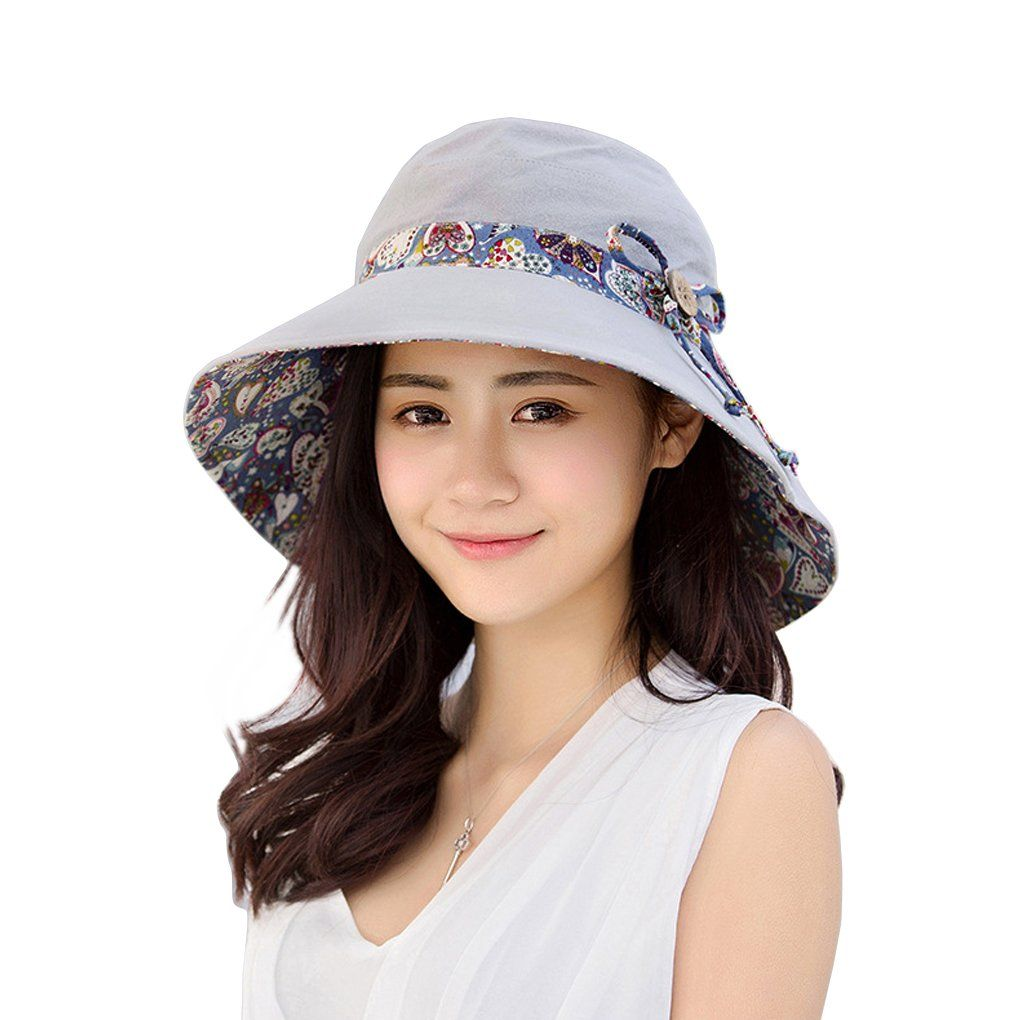 8fe3358182e Women Floppy Wide Brim Hats UPF 50+ Beach Sun Hat with Removable Neck Face  Cover