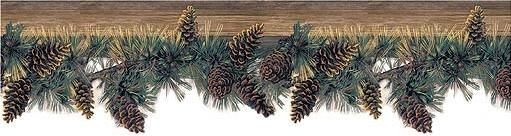 Pine Cone Lodge Kitchen Wallpaper Wall Border