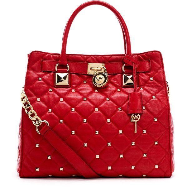 MICHAEL Michael Kors Large Hamilton Studded Quilted Tote Bag ($448 ... : quilted tote bags cheap - Adamdwight.com