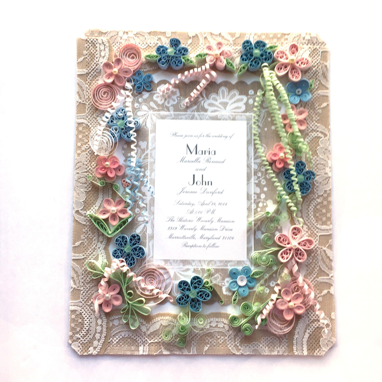 Framed Wedding Invitation Keepsake Gift Idea - Personalized Wedding ...