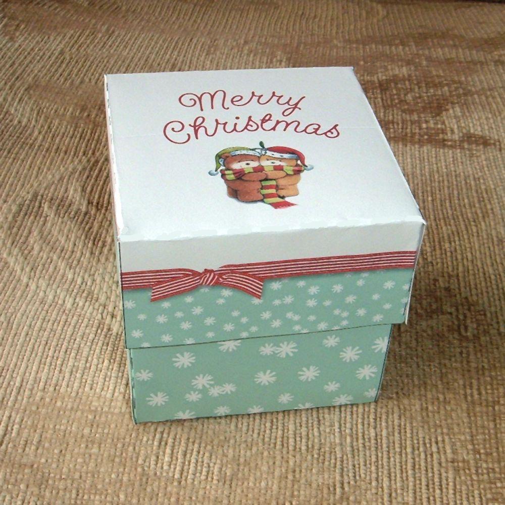 Christmas Hug Gift Box Template Paper Craft PDF Instant