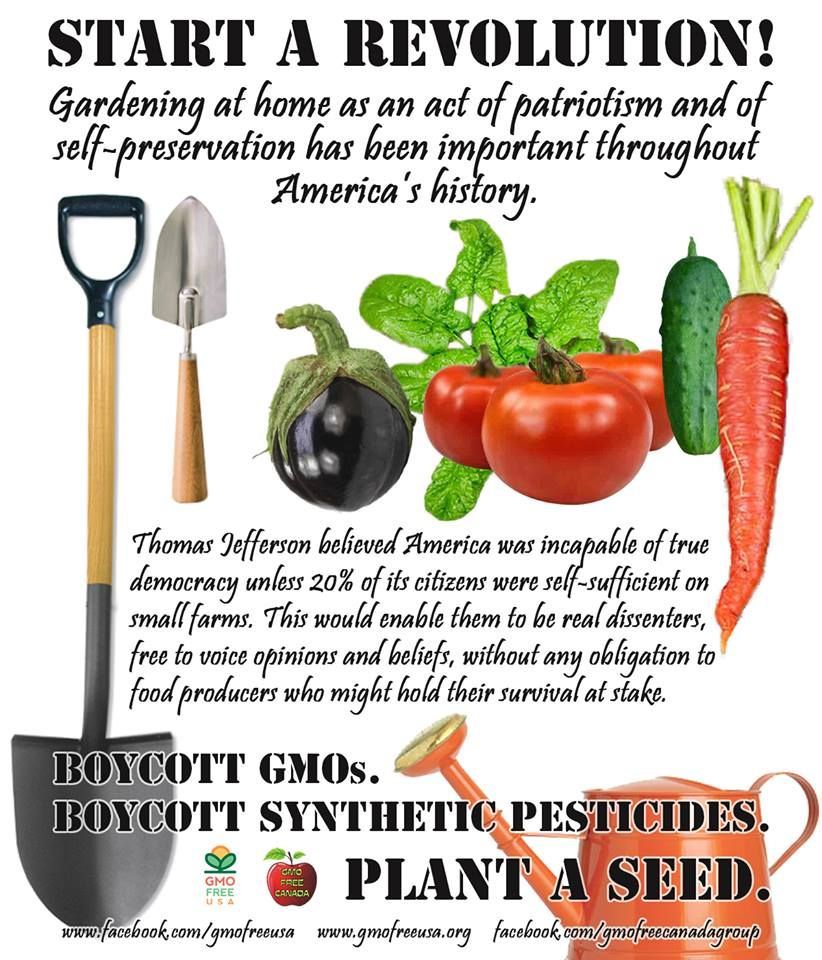 START A REVOLUTION: PLANT A SEED! Food production has long been ...