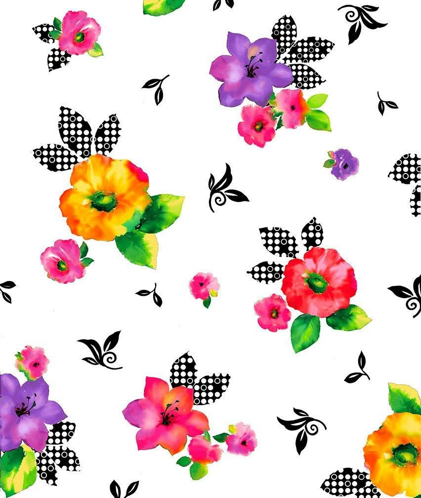 Brooke Fabric Collection By Studio 8 Per Yard Quilting Treasures Large Multi Colored Floral On White Printing On Fabric Fabric Quilt Kits