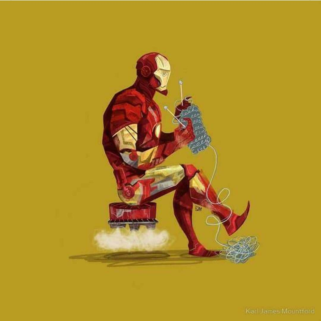 """What is Iron Man knitting?? #rdj #ironman #avengers # ..."
