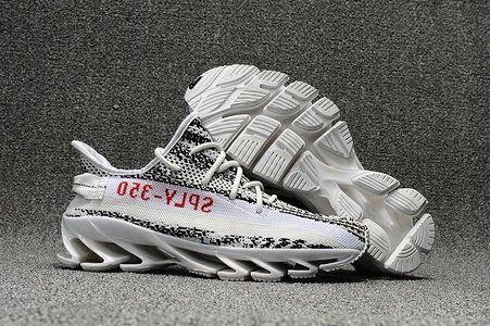 separation shoes facfc 5602b New Adidas Yeezy 350 V2 Springblade 2017 white Zebra
