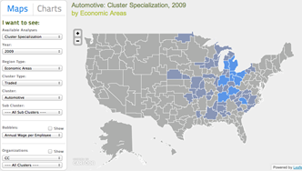 Welcome to U.S. Cluster Mapping Website | Industry Clusters | Pinterest