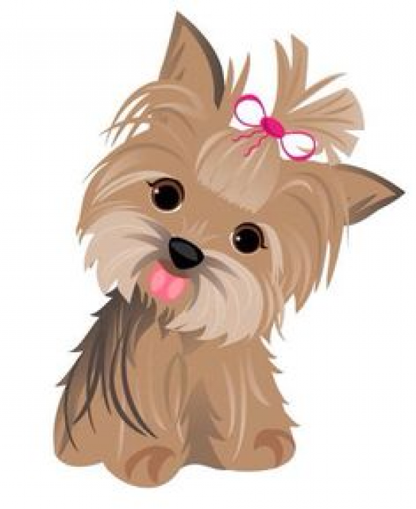 Watercolor Yorkshire Terrier Set Yorkie Clipart Clip Art Clip Black And White Library Cute Dogs Dog Drawing Dog Art