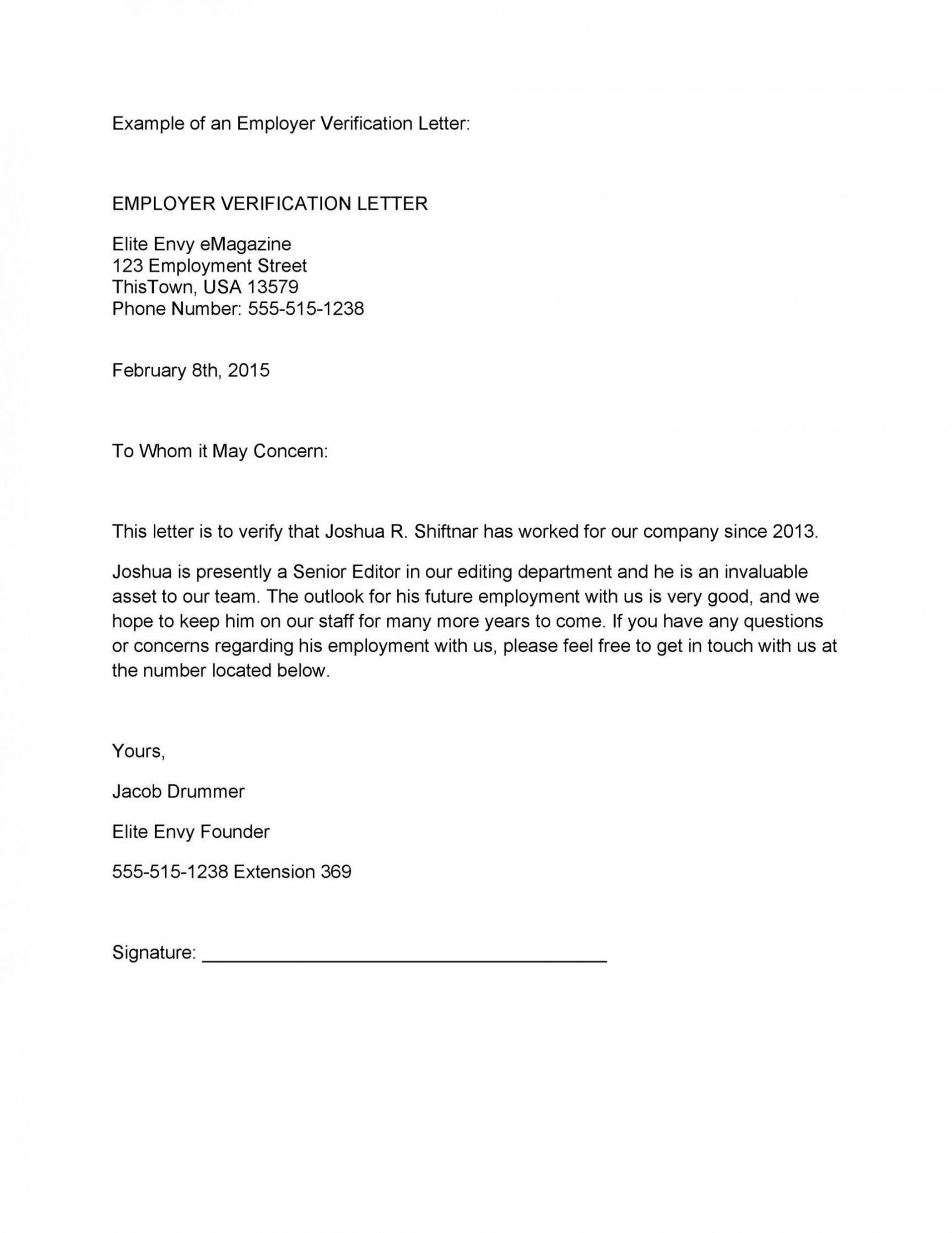 Professional Employment Verification Letter Template Example In 2021 Letter Of Employment Employment Letter Sample Lettering