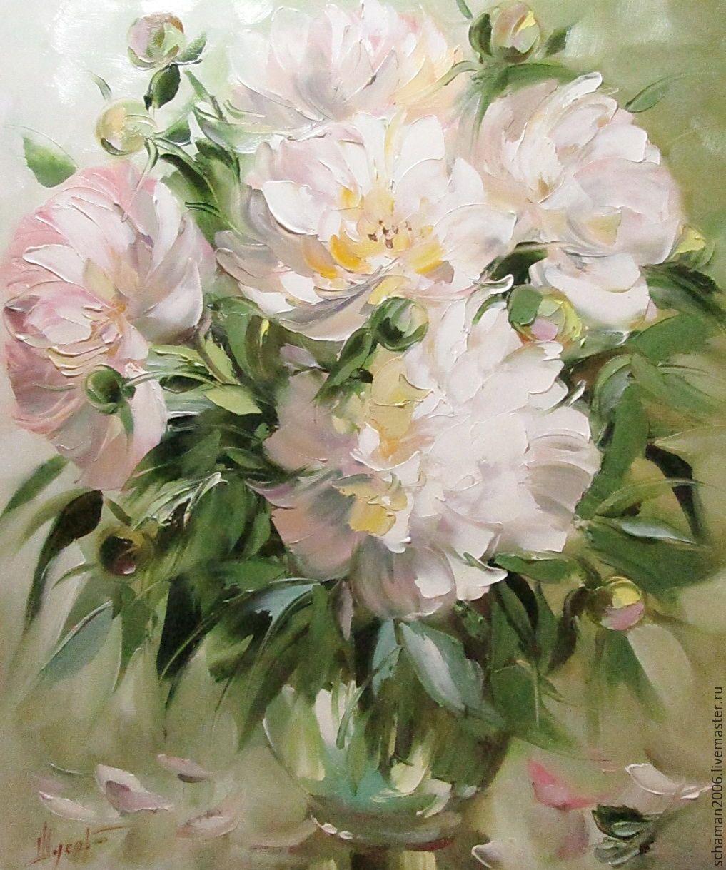 рисовать маслом цветы картинки свой срок