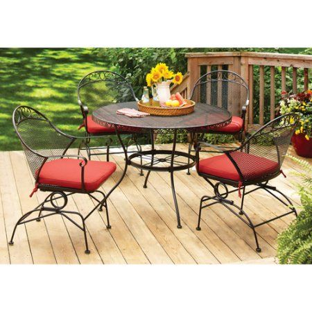 Better Homes And Gardens Clayton Ct 5 Piece Dining Set Red Box 1
