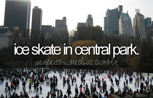 Bucket List: ice skate in central park.