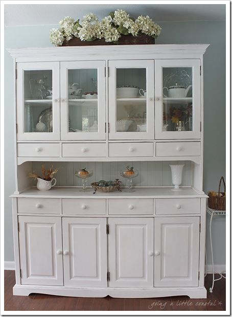 Cream China Hutch A Little Too Fussy Down Below Simpler