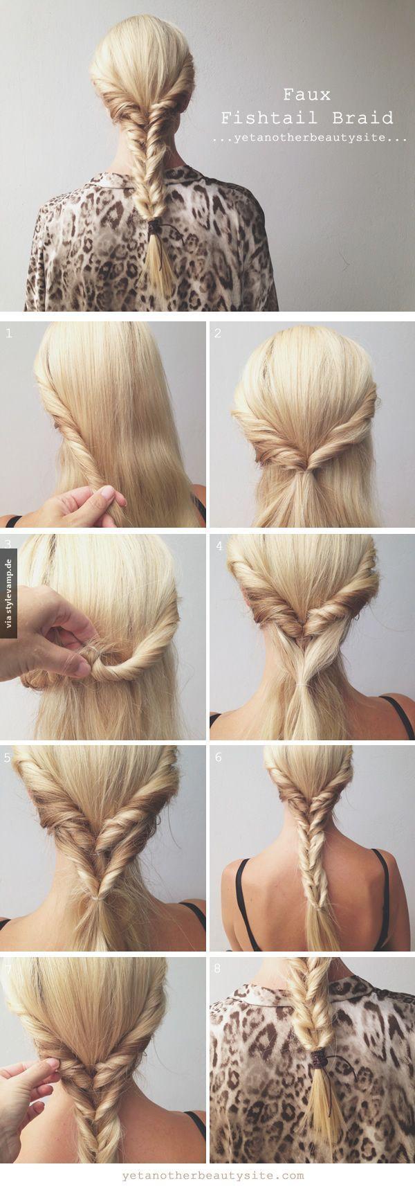 Toller fake fischgrätenzopf hair braids easy hair braids