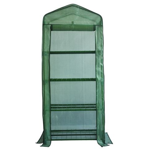 Groundwork greenhouse 5 1 4 ft h tractor supply online for Walk in greenhouse big lots