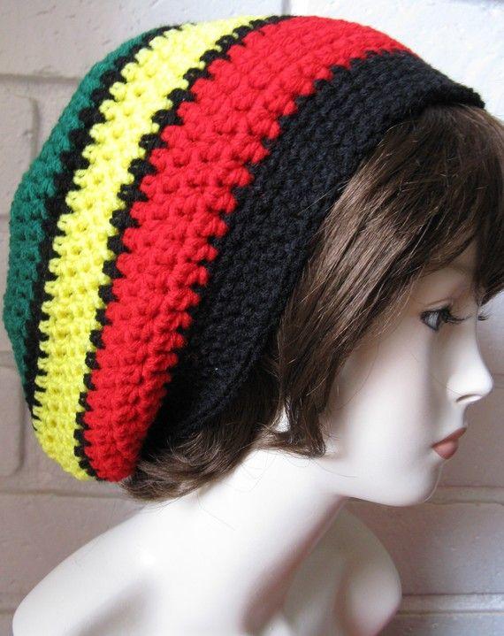 Jamaican /Black Hippie Rasta Tam Slouchy Hat by WoolFashion, $14.00 ...