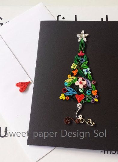 Paper Quilling Handmade beautiful Christmas by SweetPaperDesignSol