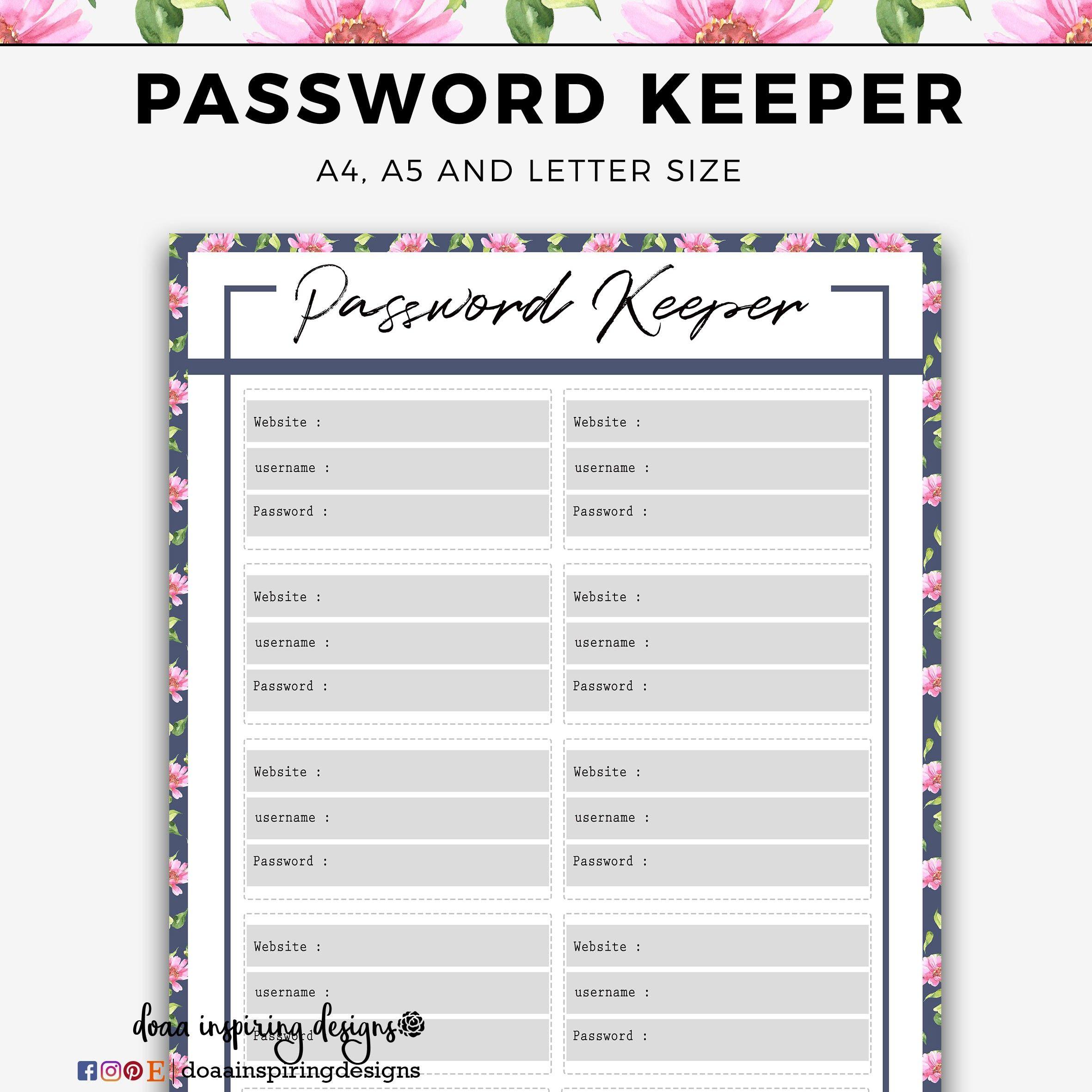 New password log template xls xlsformat xlstemplates