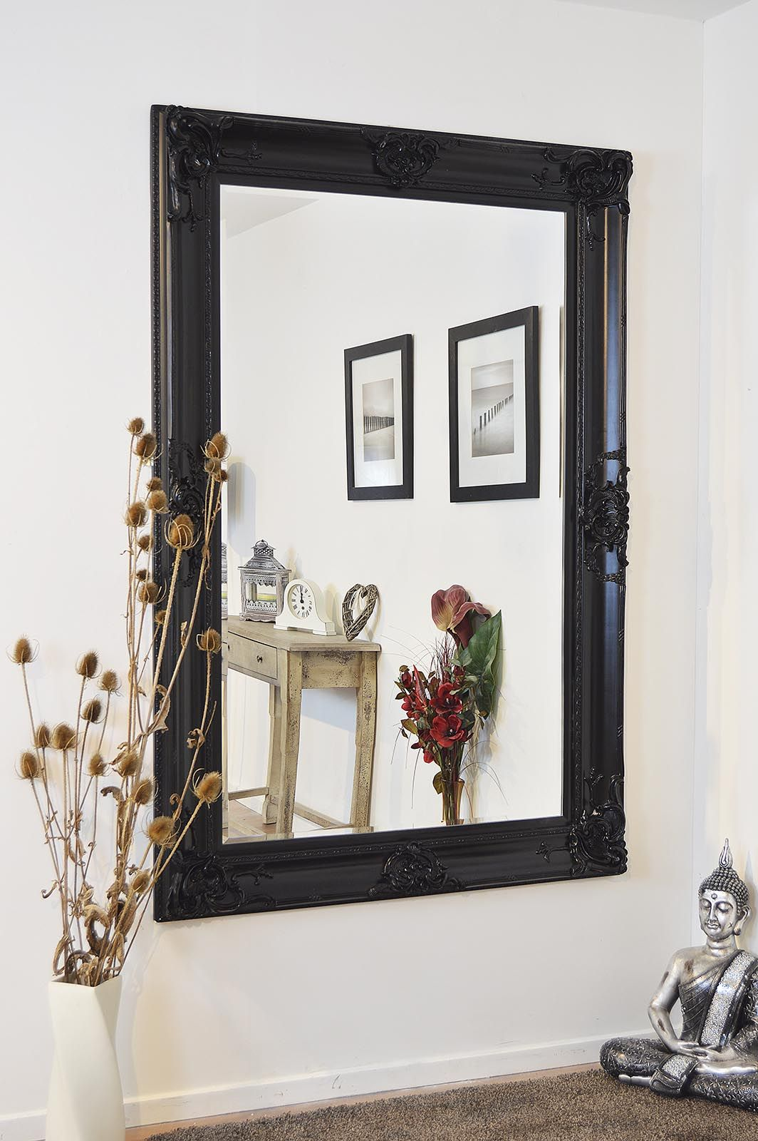 Honiton Black Framed Mirror 183x122cm | Beautiful Low Price Black ...