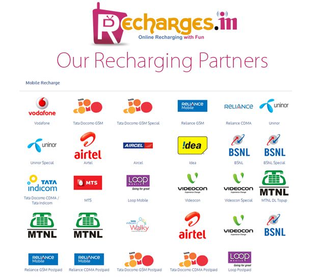 Recharge Online For Mobile/DTH: Recharge Online Mobiles Top Up For