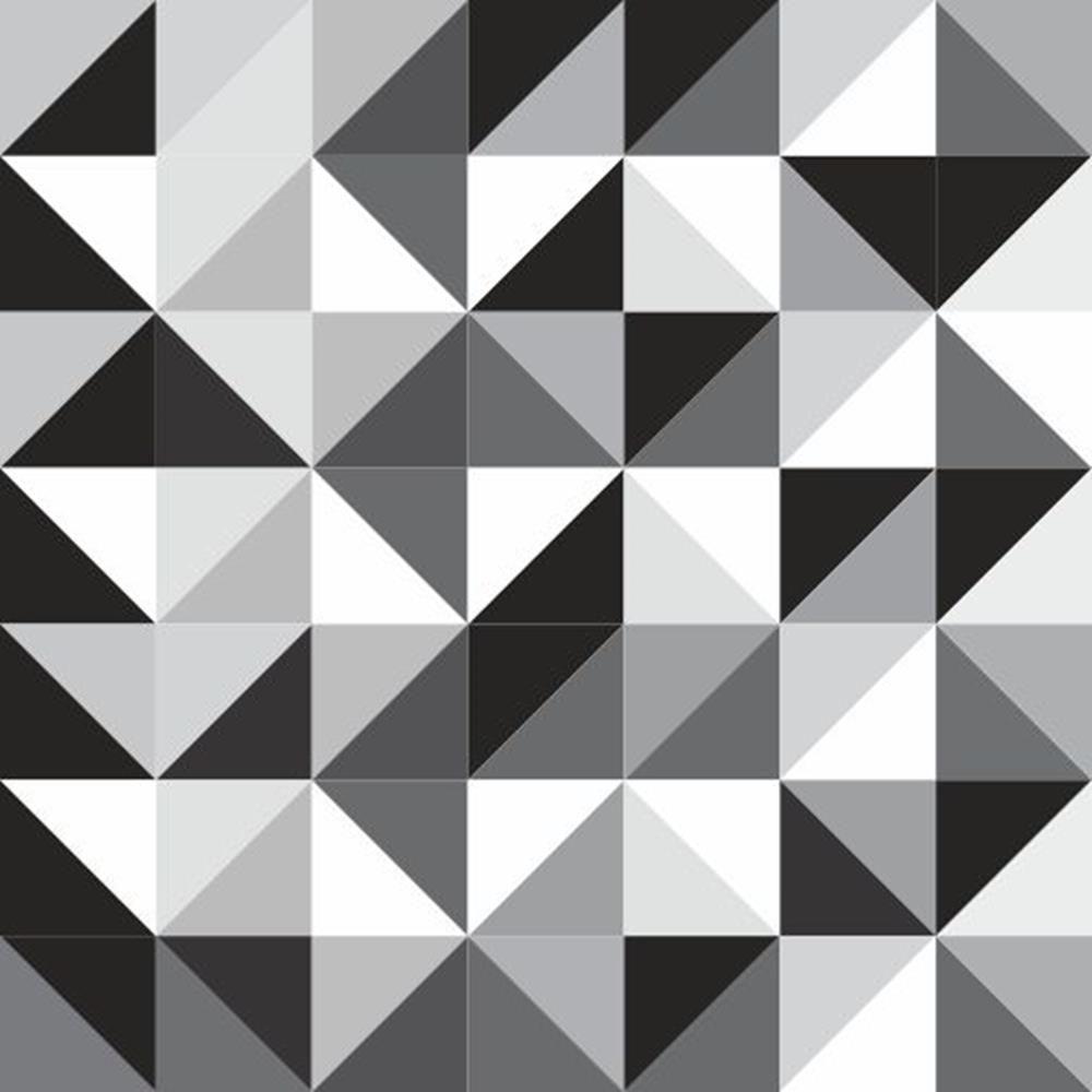 Papel De Parede Autocolante Abstrato Geom Trico Preto E Branco  ~ Quadros Para Imprimir Quarto E Piso Em Parede De Quarto
