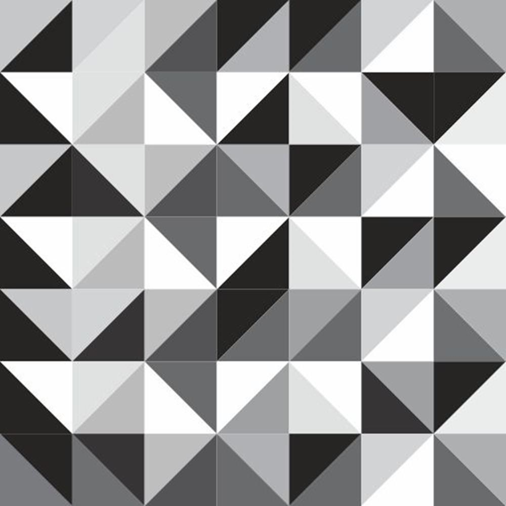 Papel de parede autocolante abstrato geom trico preto e - Papel de pared blanco y negro ...