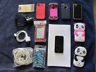 IPhone 4s Factory Unlocked 32GB Black W/8 Cases 7Chargers & Screen Prot.!!!