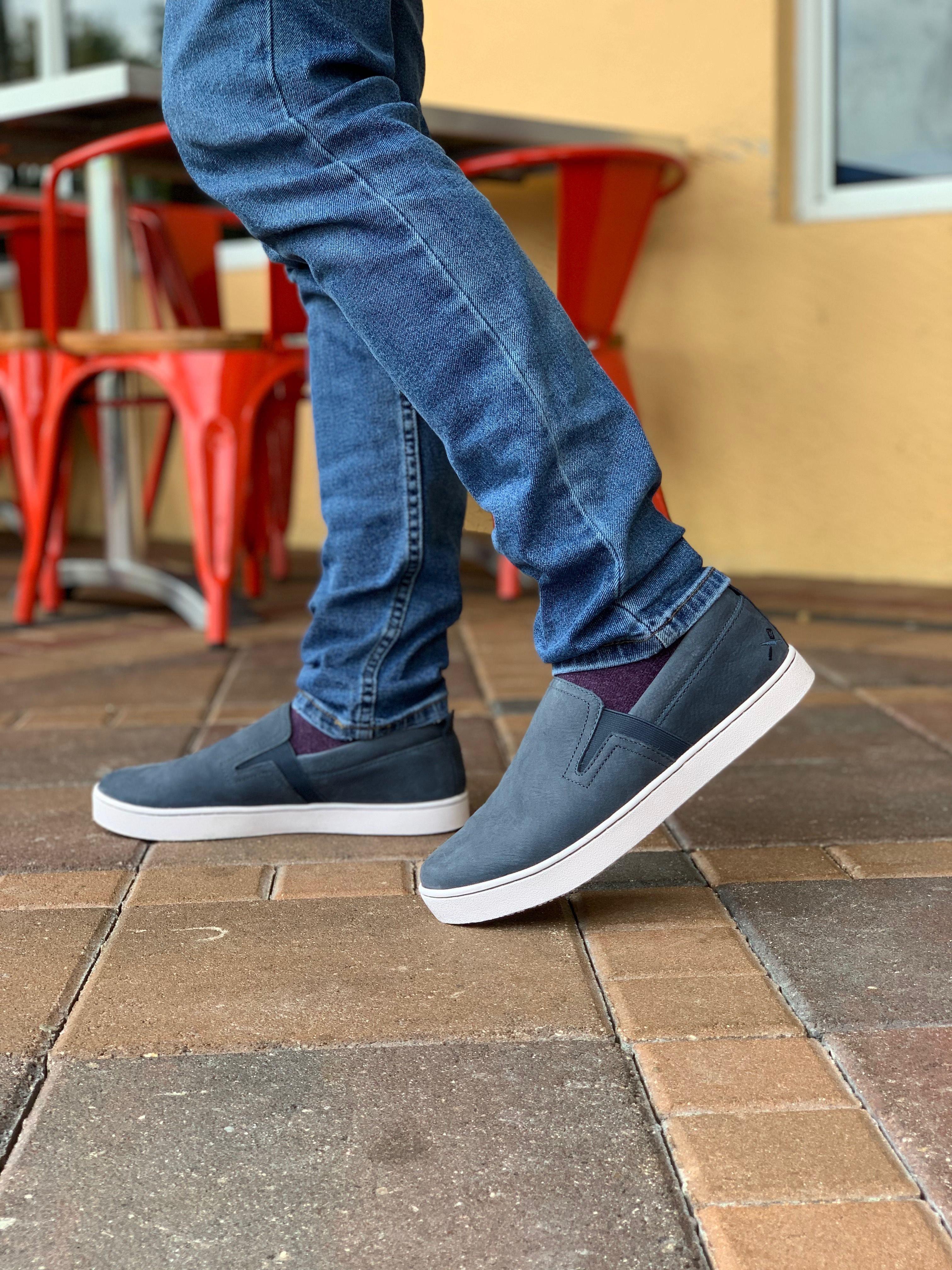 Mozo Floyd Blue Men S Work Shoes Vans Classic Slip On Sneaker Blue Man