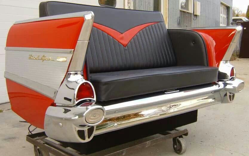Repurposed Vintage Fin Car Into Sofa Loveseat Fabulous If