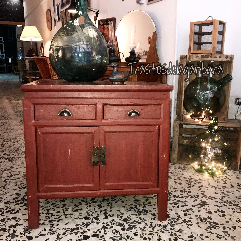 Mueble Antiguo Rojo Turco Trastos De La Ganbara Venta Y Alquiler  # Muebles Petit Corner