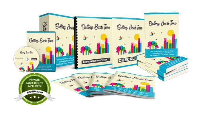 Getting Back Time PLR Review – Proven Guide That Show You How To Put An End To Time Wasting, Accomplish More In Less Time & Design A More Productive Lifestyle And Keeps 100 % Profits