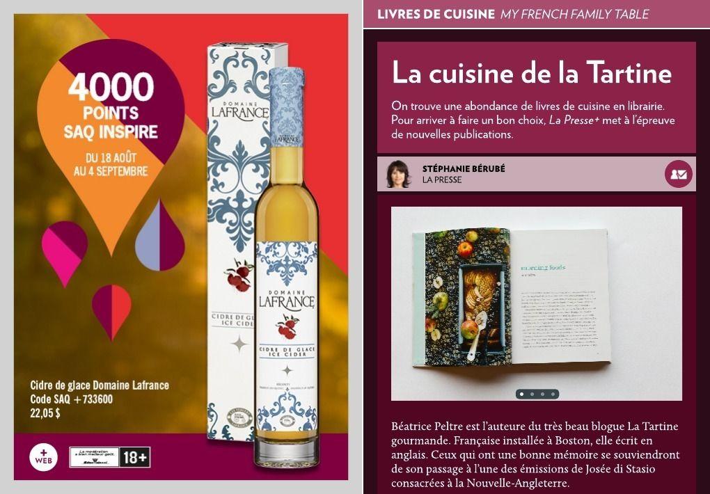 La cuisine de la Tartine - La Presse+